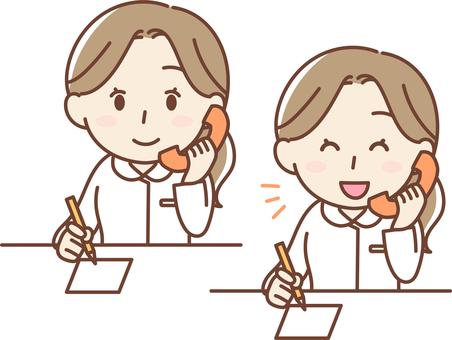Nurse answering the phone