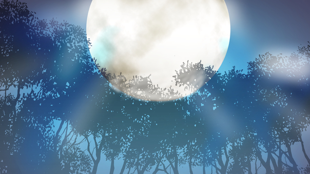 Moon forest background