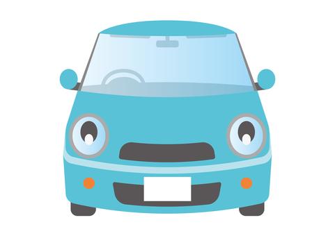 汽車緊湊型車淺藍色