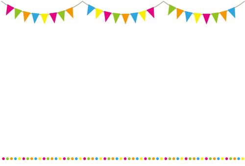 國旗花環框架