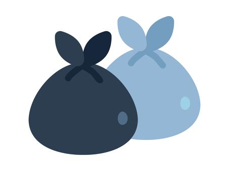 Simple and cute trash bag illustration