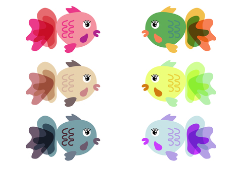 Colorful goldfish