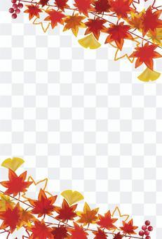 Autumn leaves frame tate