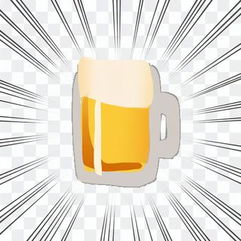 濃縮線和啤酒