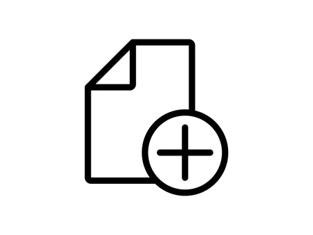 Document and plus mark icon