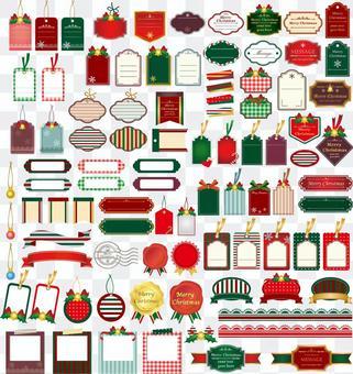 聖誕節可愛的幀集合