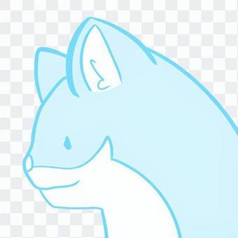 貓藍色圖標變形
