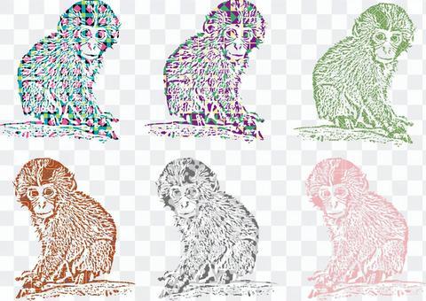 猴子猴子動物生物打印明信片背景