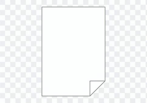 翻轉的紙圖標