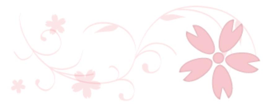 벚꽃 _ 장식 괘 _ 패턴