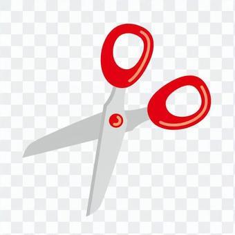 Scissors (red)