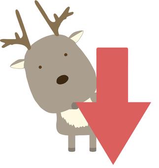 Arrow_down_reindeer