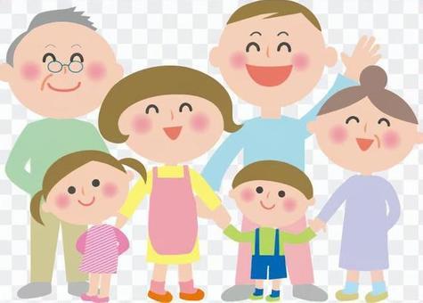6個家庭插圖