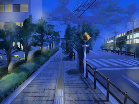 Loose school road / night