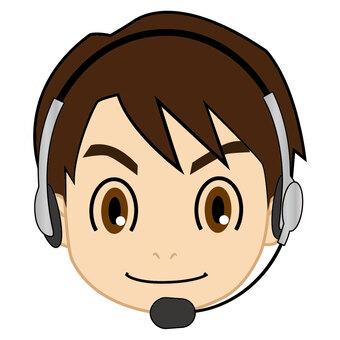 Male operator icon