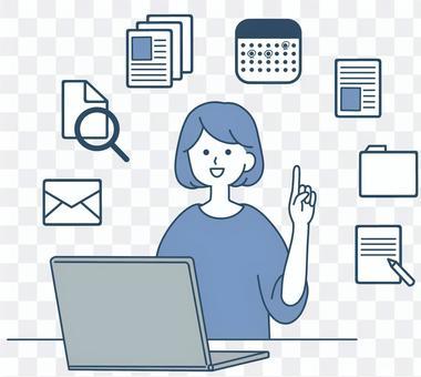信息管理,個人電腦,整潔的設計