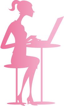 職業女性剪影
