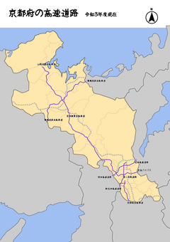 京都府京都高速公路日本地圖