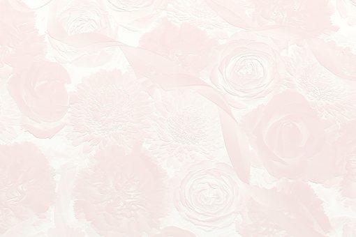 3d 玫瑰、菊花、絲帶浮雕