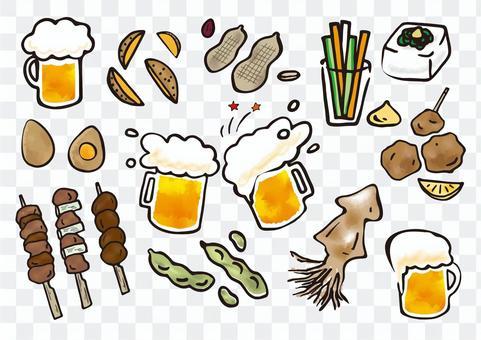 啤酒和小吃