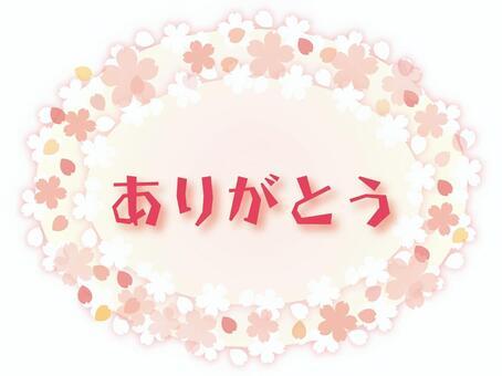 謝謝櫻花的圓形框架♪