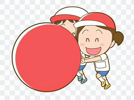 一個在運動會上擲球的女孩_006