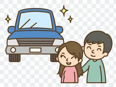 新車を購入する夫婦