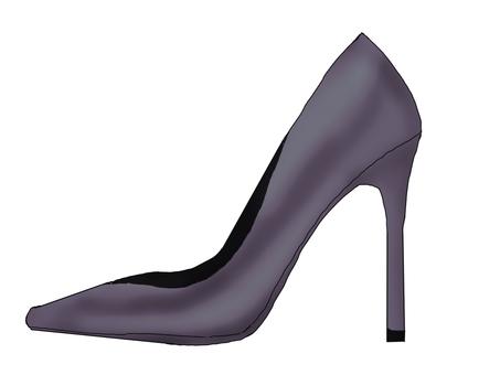 Grayish purple high heels