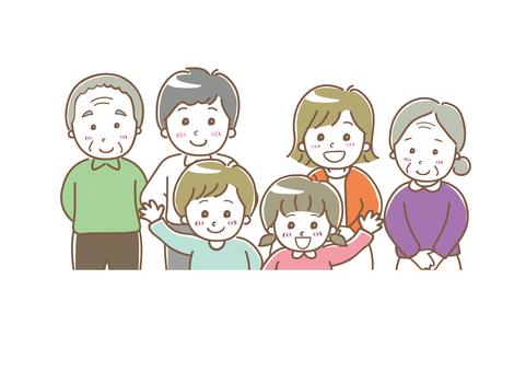 Family illustration three generations 03
