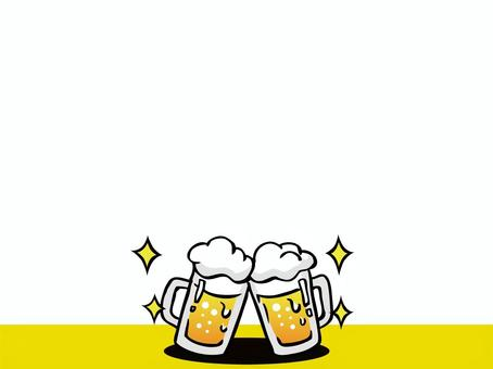 Drinking party with beer Illustration Frame 01