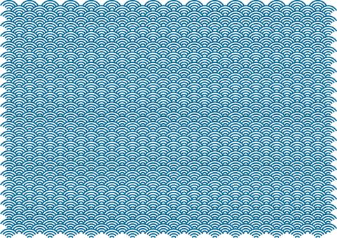 青海波浪紋矢量
