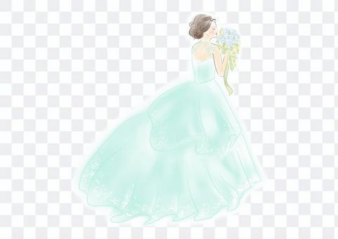 禮服,婚禮,柔和的色彩