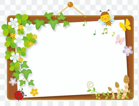 Bulletin board of spring breath Cork board style