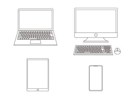 PC平板智能手機畫線框