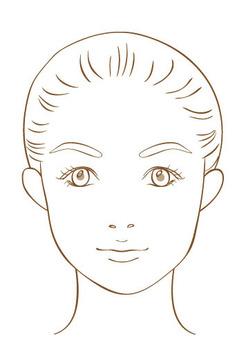 女性正面的臉