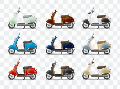 Cute pop scooter (left)