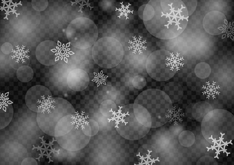 雪背景閃光