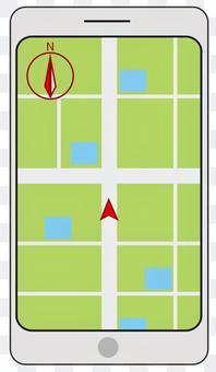 智能手機打開地圖應用