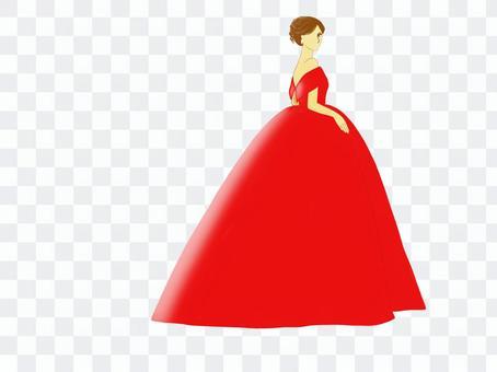新娘禮服紅色