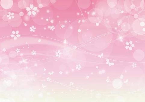 櫻花背景閃光