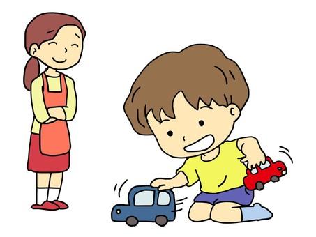 孩子們玩玩具