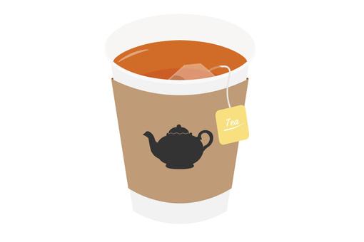 종이컵 커피 티백