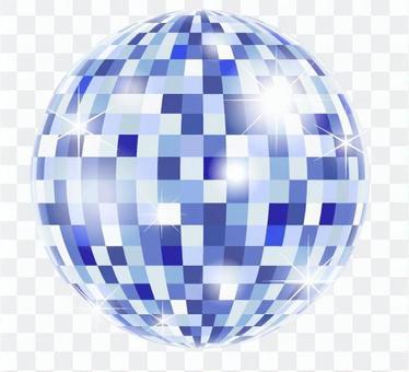 鏡子球_藍色