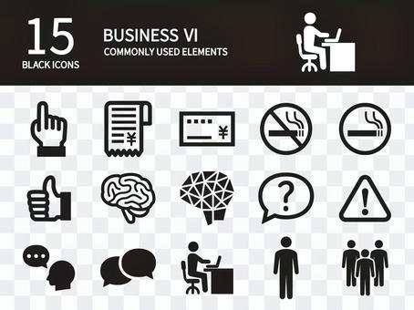 よく使用されるビジネスアイコンセット6