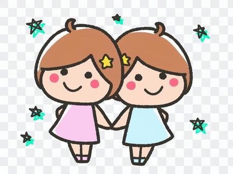 Cute Gemini and stars