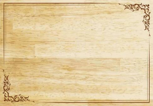 木紋招牌花邊框架相框