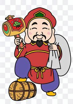 Illustration of Daikokuten of the Seven Lucky Gods