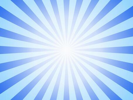 放射状 青
