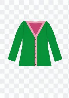 開襟衫(綠色)