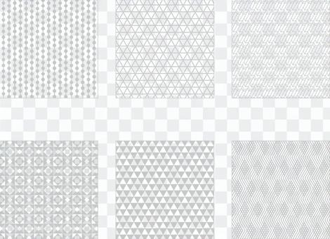 灰色簡單圖案2(透明背景)